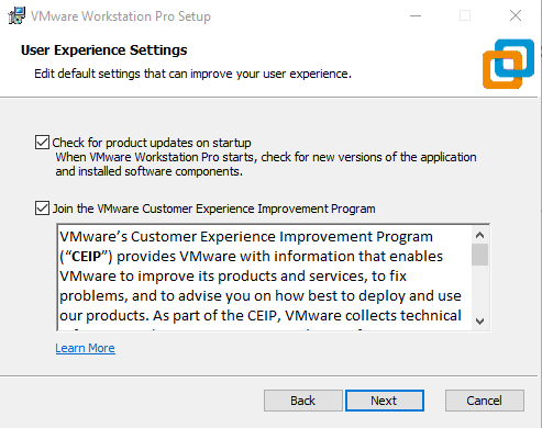 VMware update and license