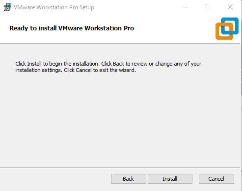 vmware installation process.
