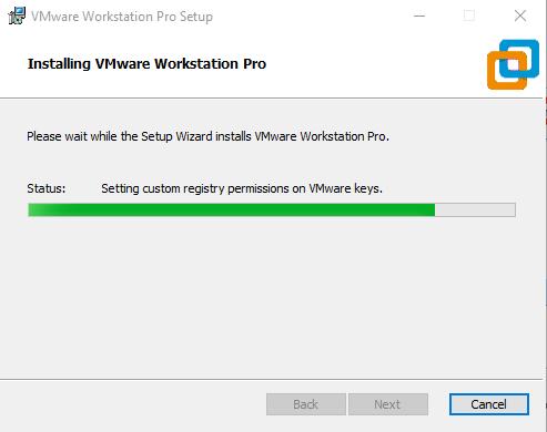 VMware installation process starts.