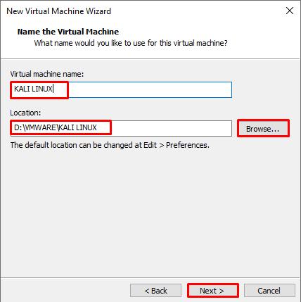 Name the Virtual Machine