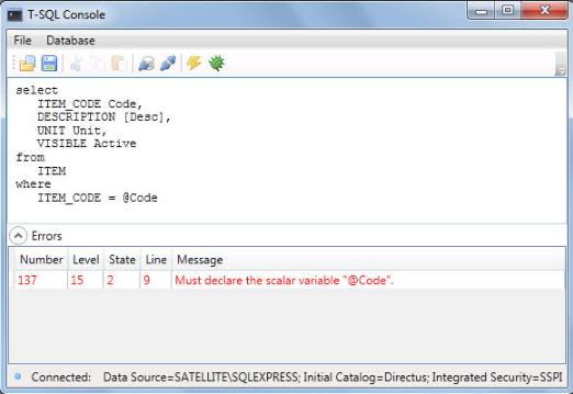 T-SQL CONSOLE