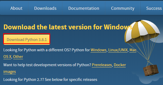 Download python for windows