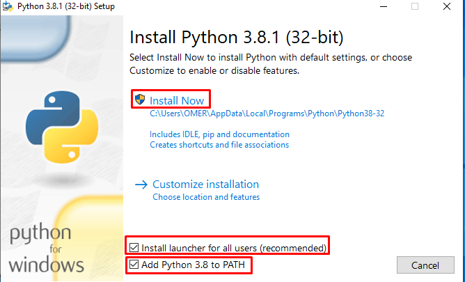 Python Install Now