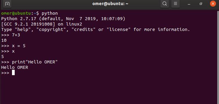 Python command on ubuntu