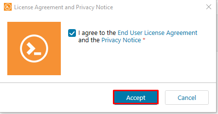 License agreement and privacy notive
