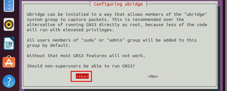 Configuring ubridge