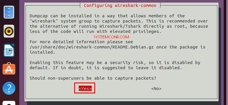 Configuring Wireshark-common