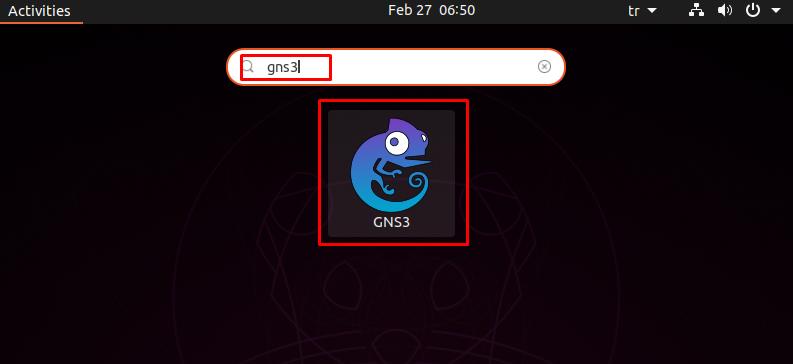 Run GNS3