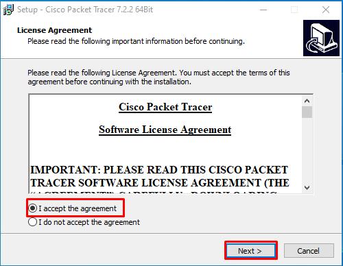 PT license agreement window