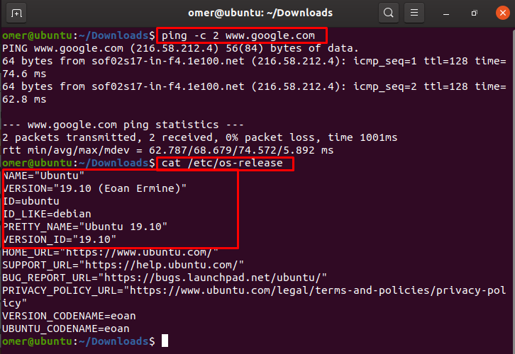 Ubuntu version