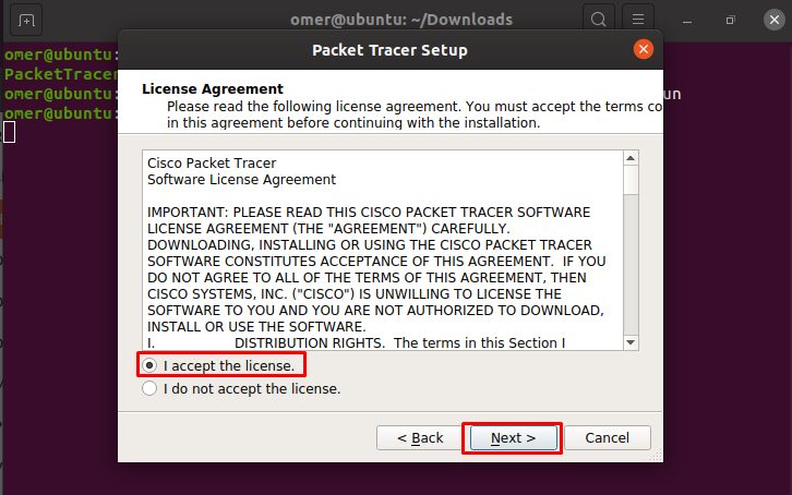Packet Tracer License Agreement