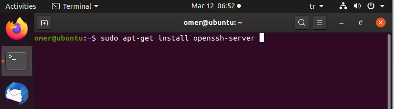 ssh server installing