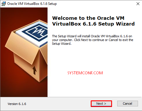 VirtualBox setup