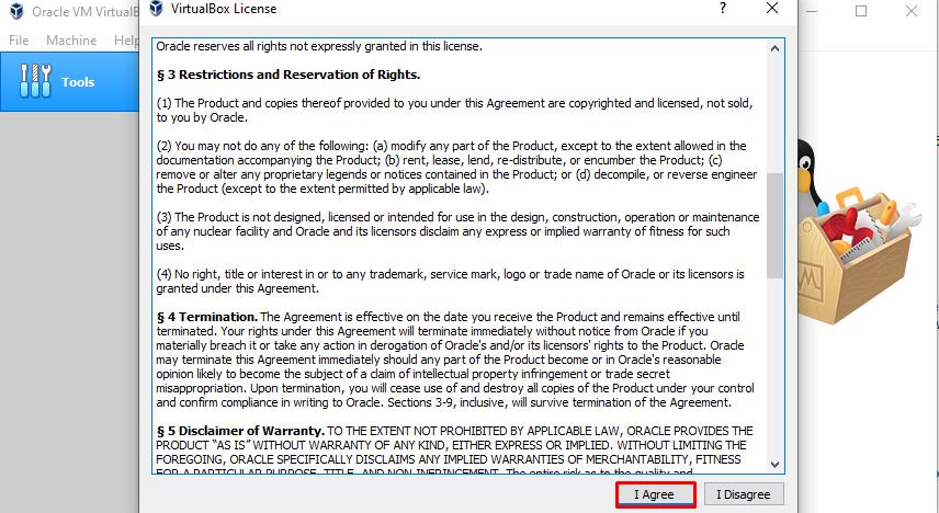VirtualBox guest add-on license