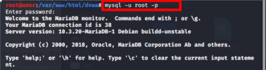 """""""mysql -u root -p"""""""