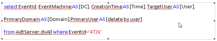 SQL query showing which users administrators deleted