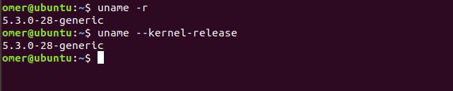 uname -r, uname --kernel-release