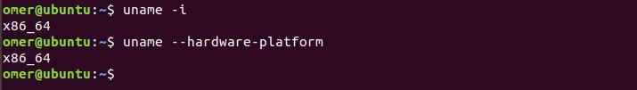 uname -i, uname --hardware-platform