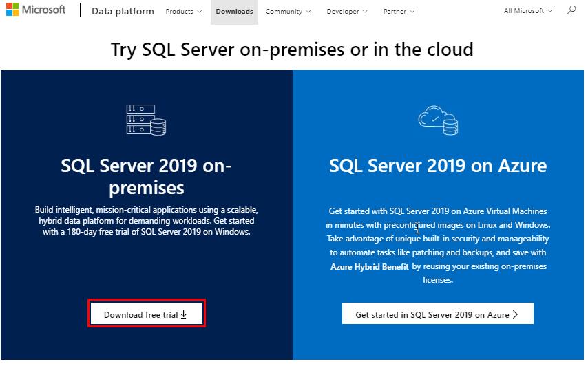 Download SQL Server 2019