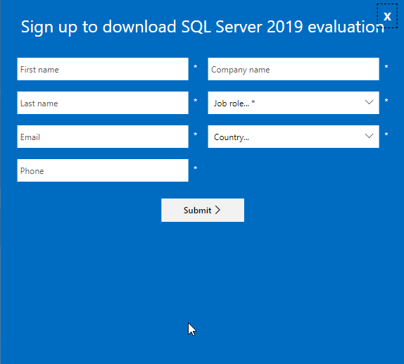 SQL Server 2019 Evaluation