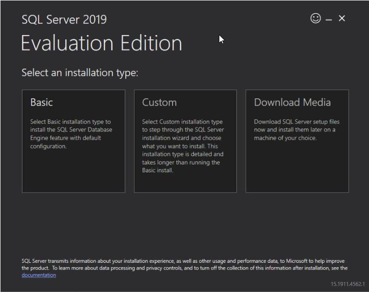 Sql server 2019 Download Media