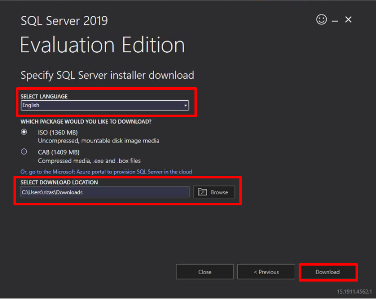 Sql Server Download