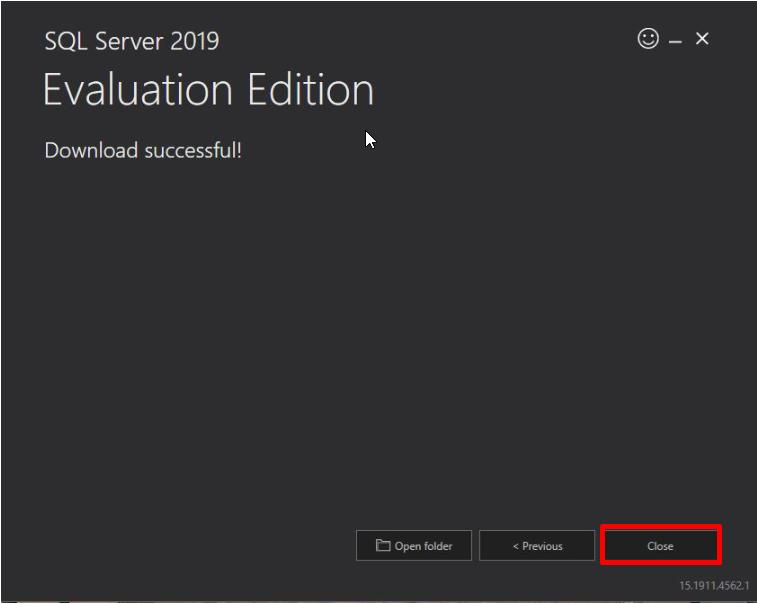 SQL Server Download Successful