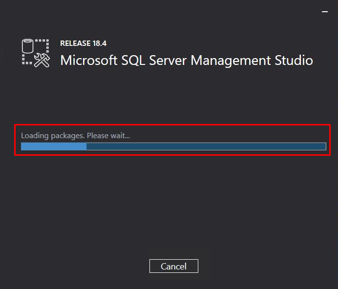 SQL server installation has started and continued.