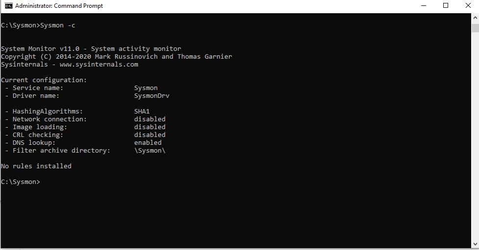 Sysmon Configuration