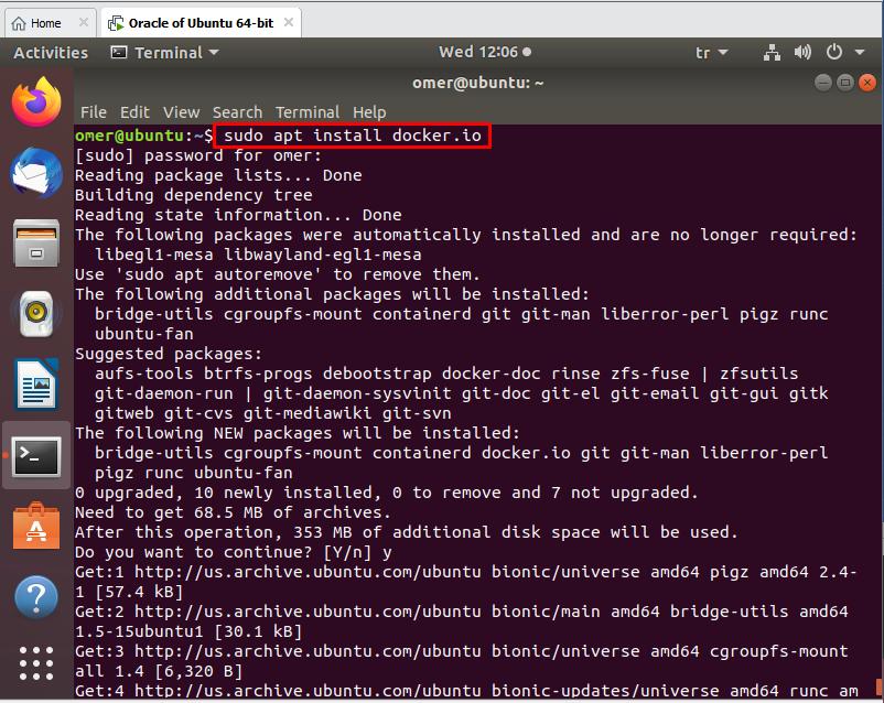 install Docker.