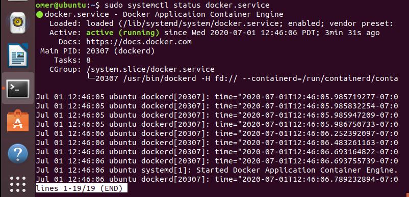 systemctl status docker.serice