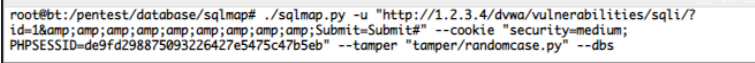 SQLmap tool