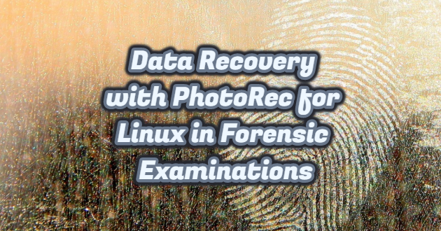 Data Recovery with PhotoRec for Linux in Forensic Examinations