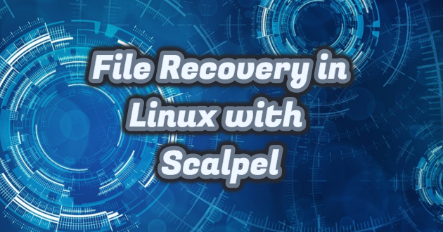 File Recovery in Linux with Scalpel