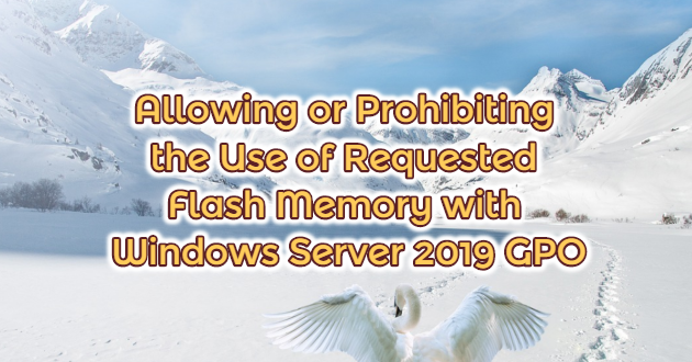 Allowing or Prohibiting the Use of Requested Flash Memory with Windows Server 2019 GPO