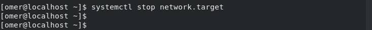 systemctl stop network.target