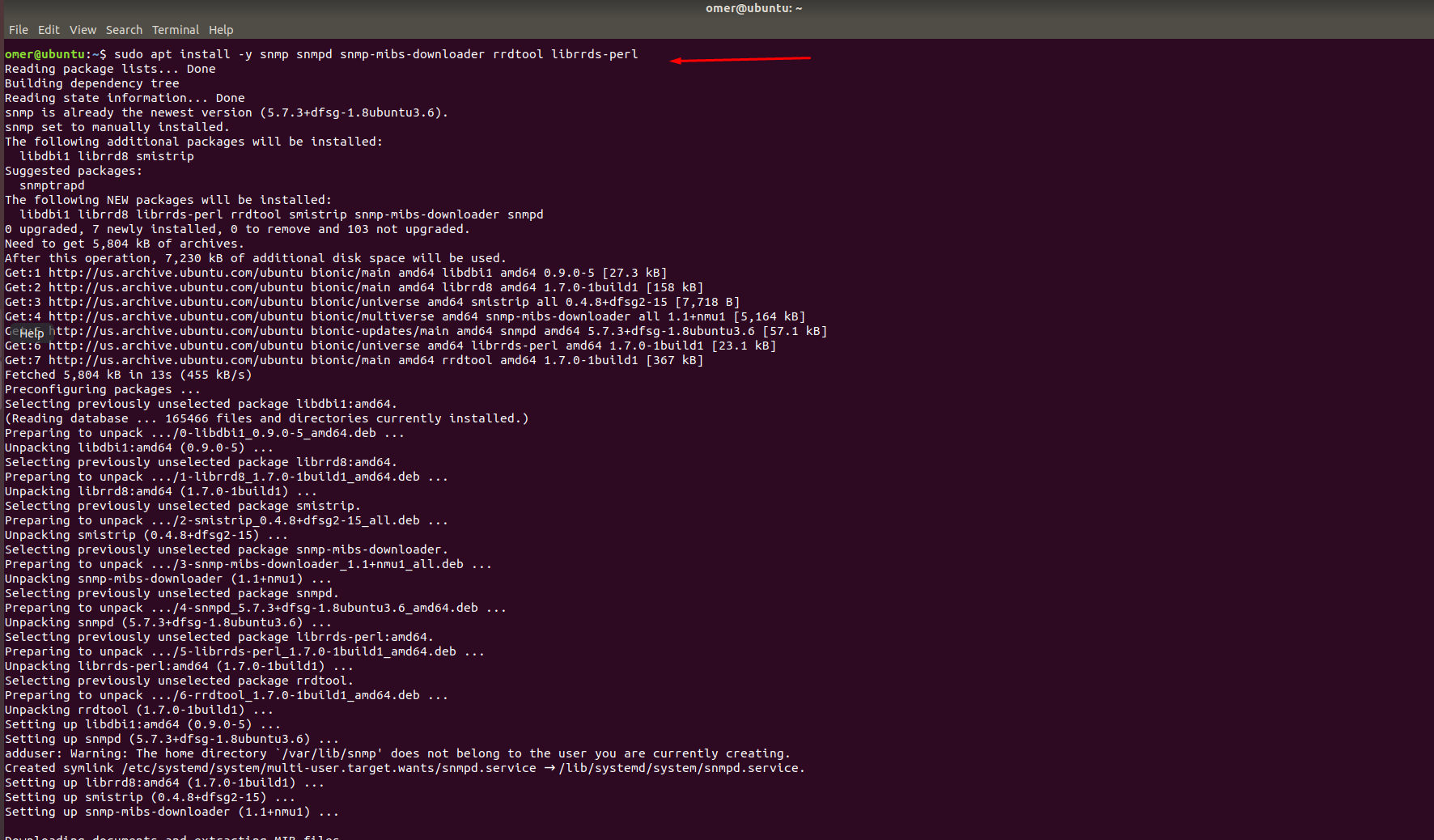 Installing SNMP and RRDtoll Tools