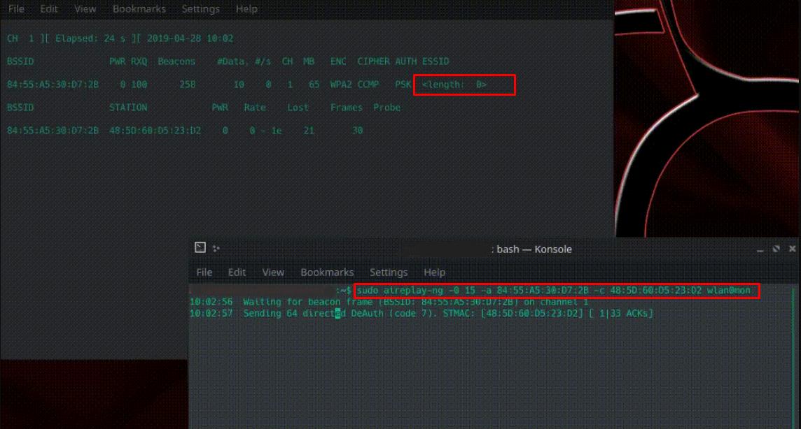 Wifi Network Hidden Name Detection