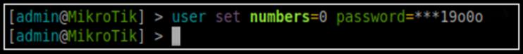User Password Settings