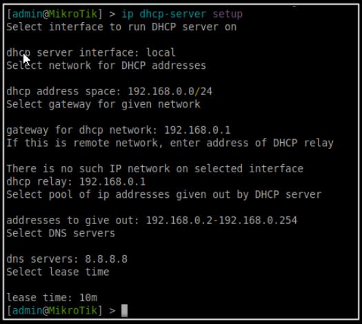 dhcp-server setup