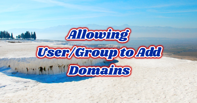 Allowing User/Group to Add Domains