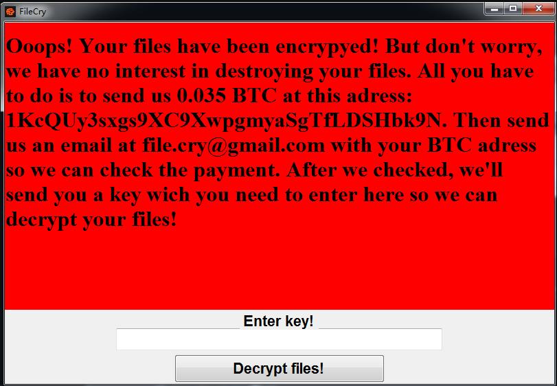 File Encrypting Ransomware