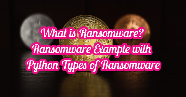 What is Ransomware? Ransomware Example with Python – Types of Ransomware