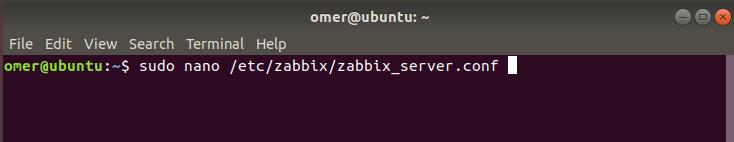 zabbix database access password