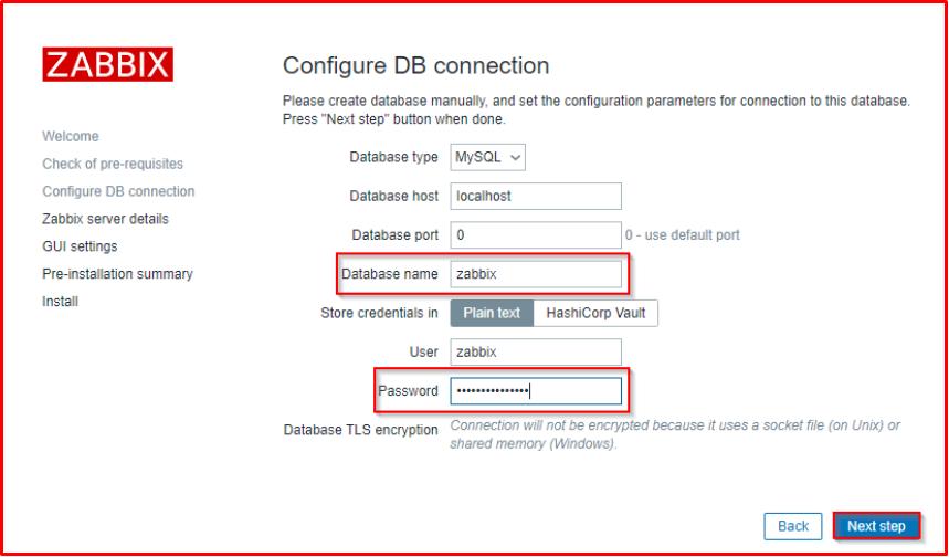 Configure DB connection