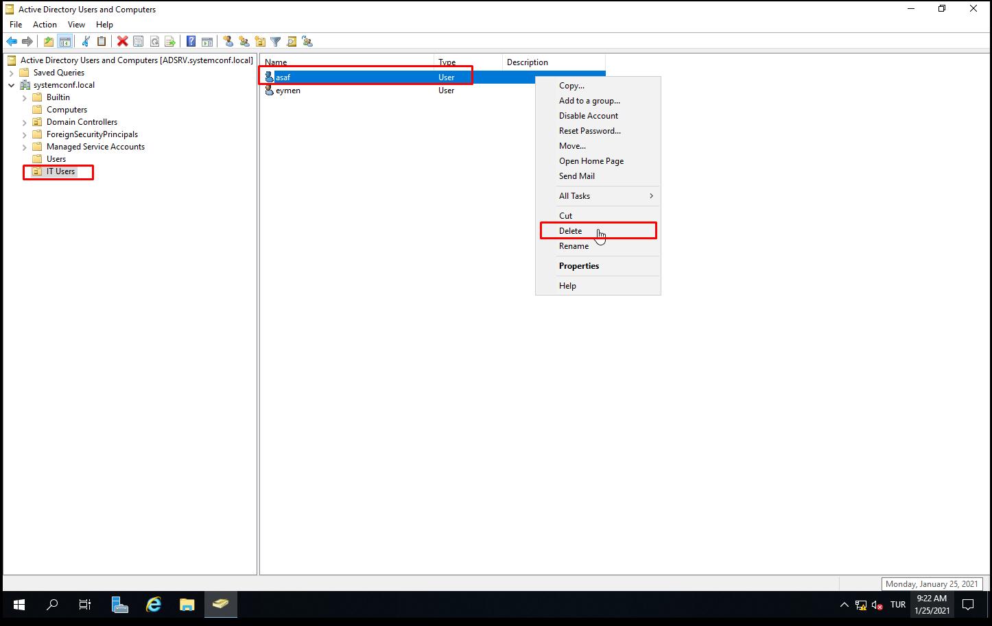 Active Directory Recycle Bin Restore