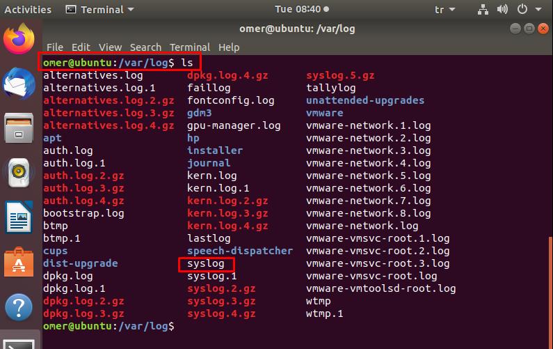 Ubuntu log/syslog