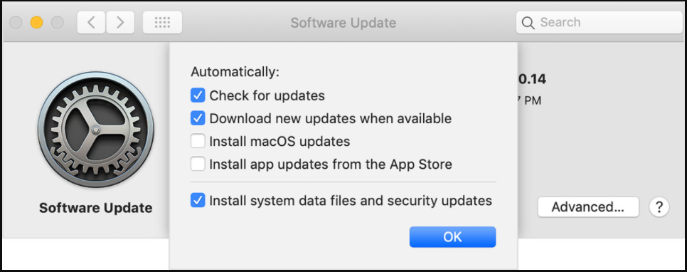 Checking for updates automatically
