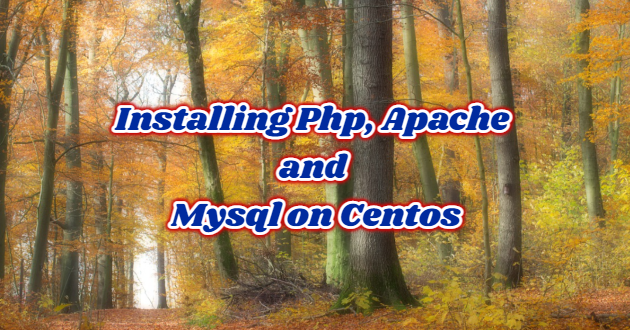 Installing Php, Apache and Mysql on Centos