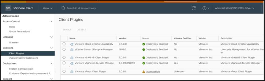 vRops client plugins